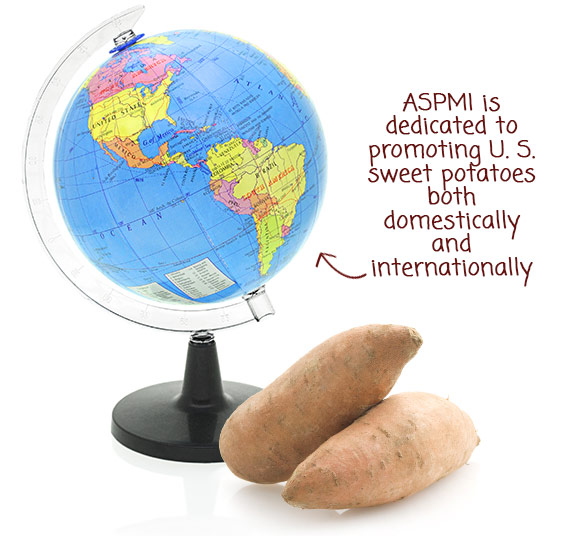 ASPMI is dedicated to promoting U.S. sweet potatoes both domestically and internationally